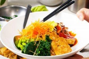 ginger tofu bowls