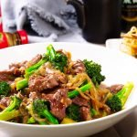 chinese beef and broccoli recipe card
