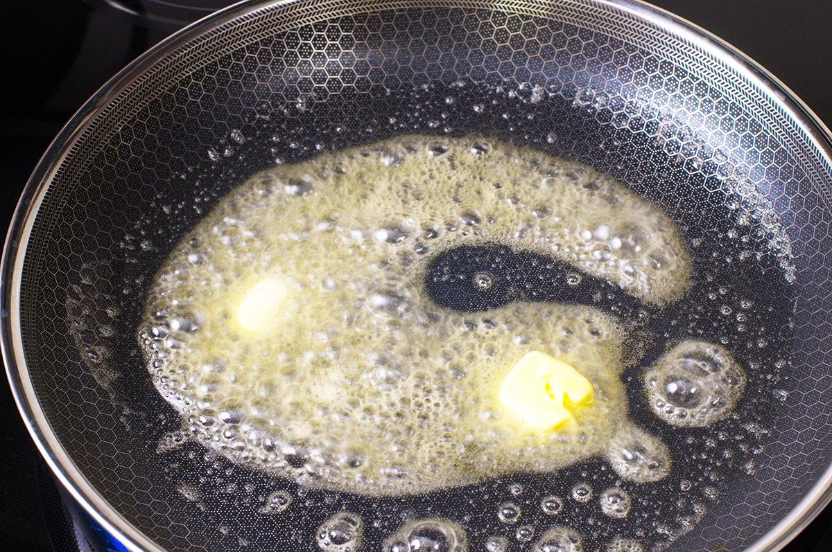 enoki browning butter