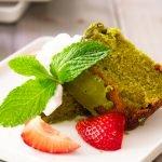 matcha cake recipe card