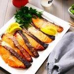 miso salmon recipe card