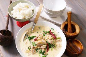 thai coconut chicken feature