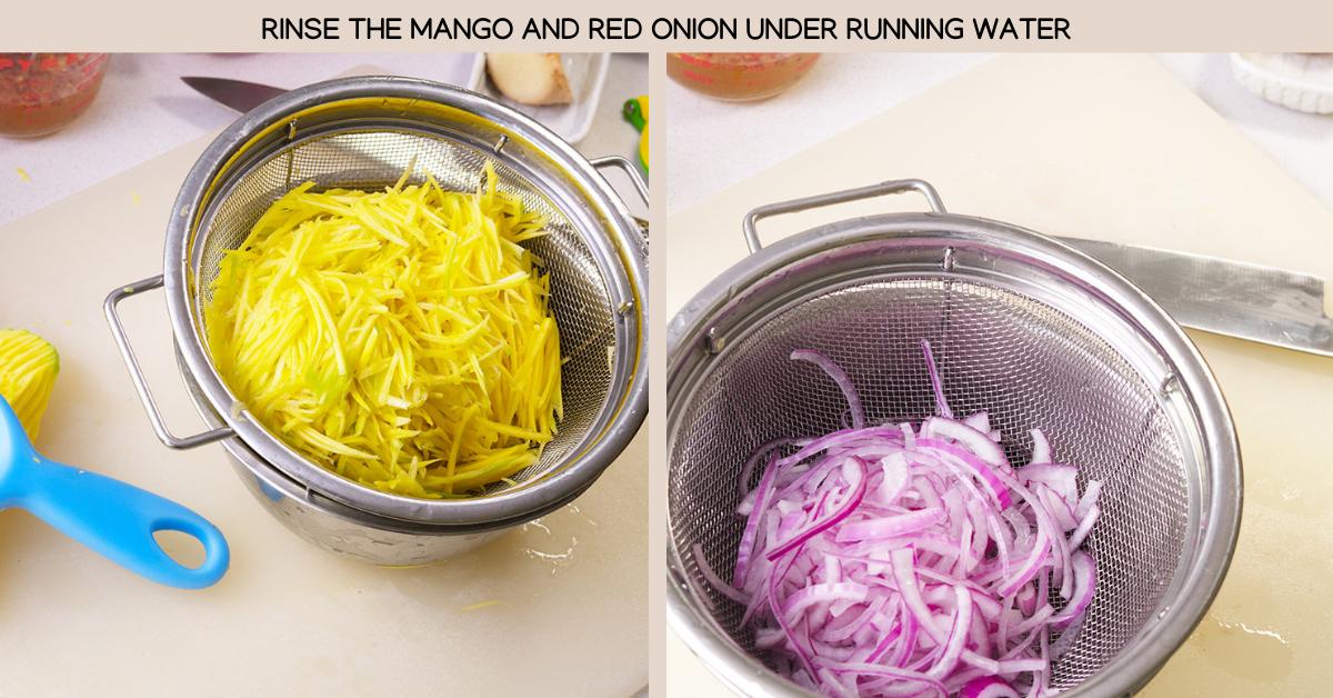 rinse green mango salad
