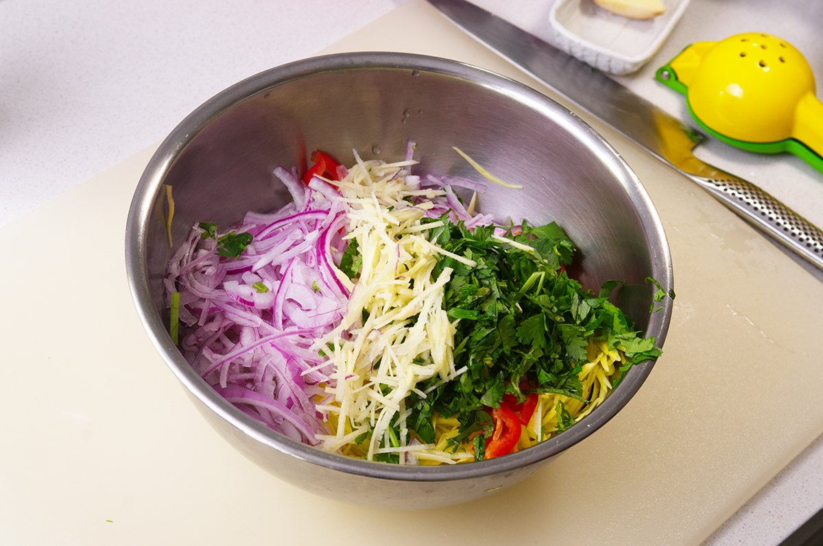 bowl green mango salad