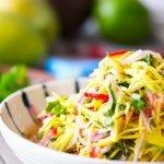 green mango salad recipe card