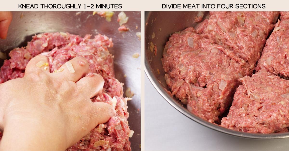kneading hambagu