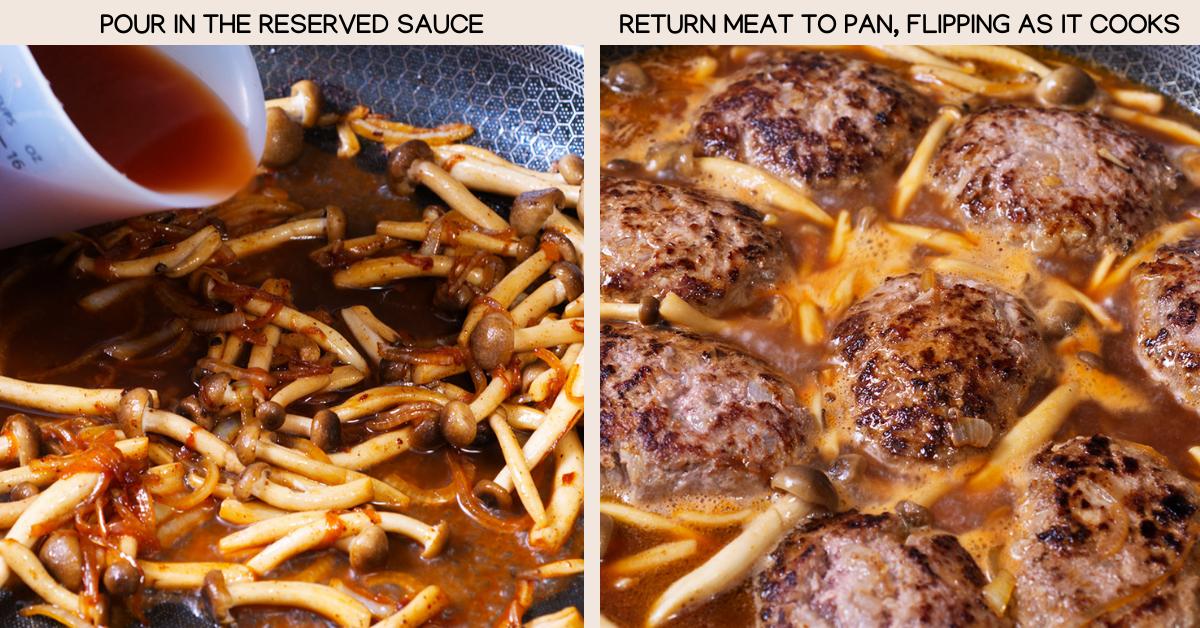 sauce and meat hambagu
