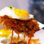 kimchi rice recipe card