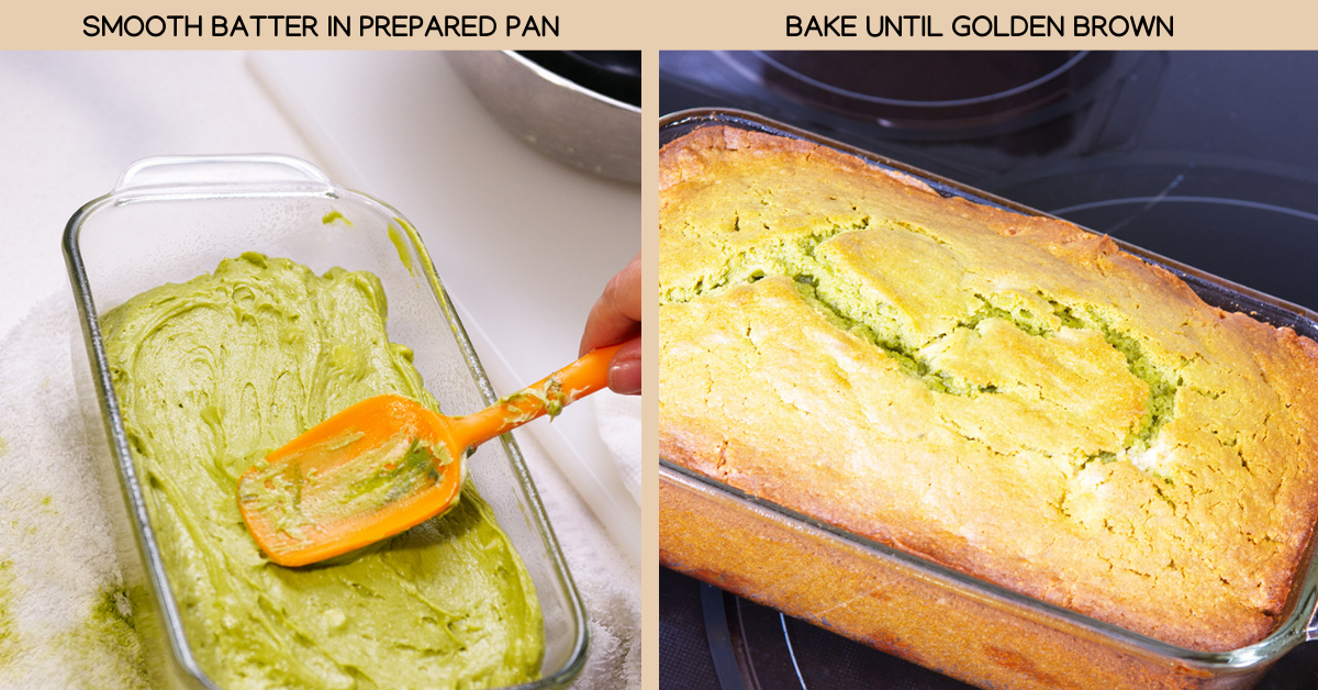 matcha cake baking