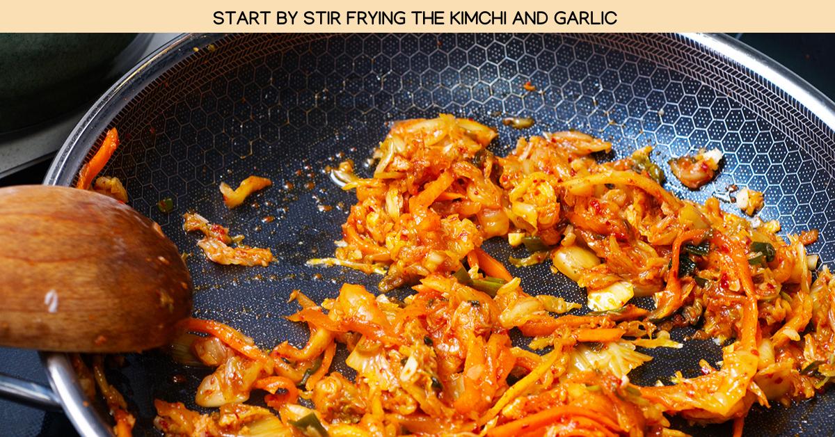 garlic kimchi rice