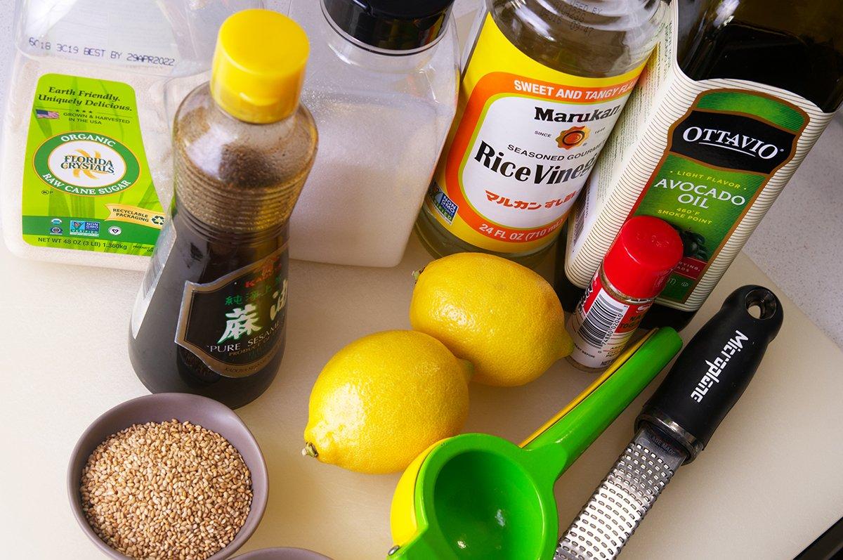 ingredients crisp shiitake katsu sauce