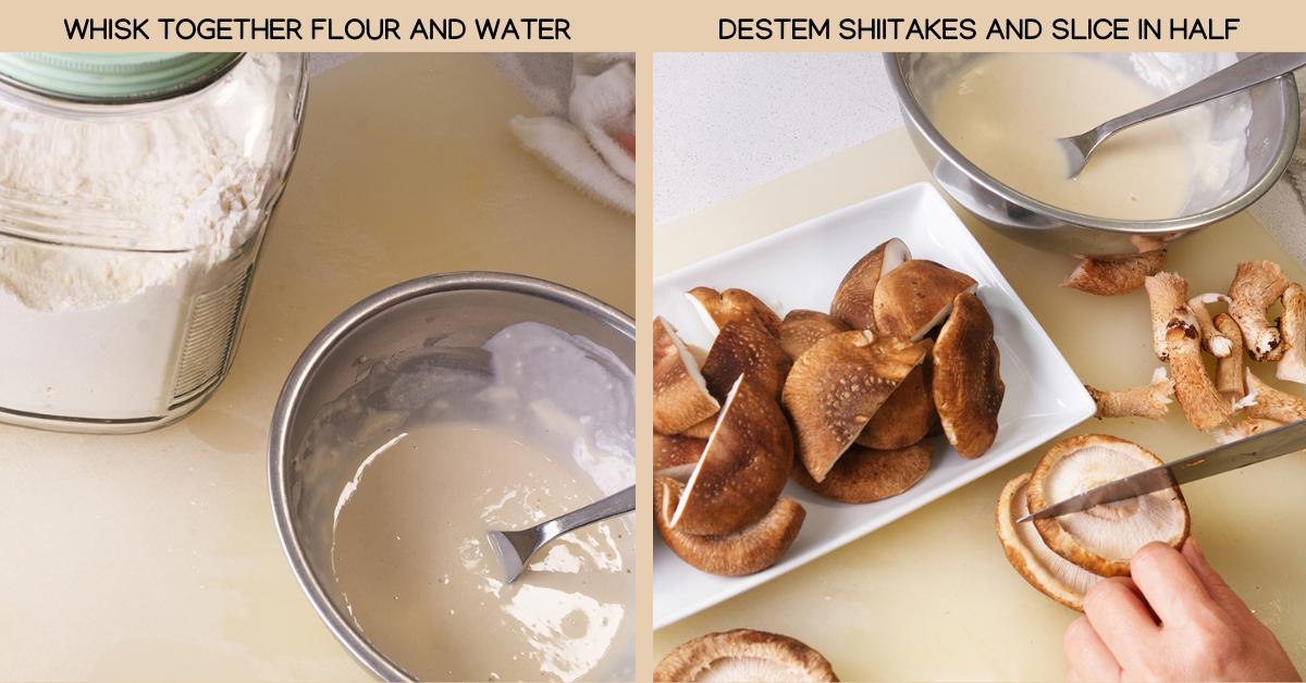 flour crispy shiitake katsu