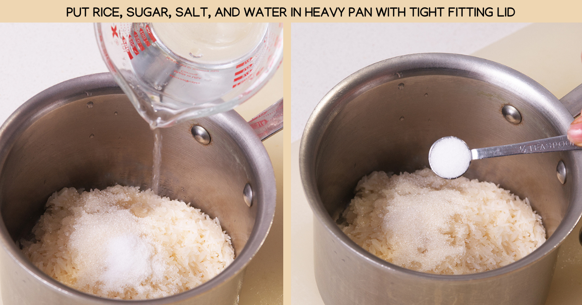 water coconut rice