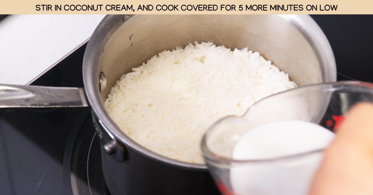 cream coconut rice