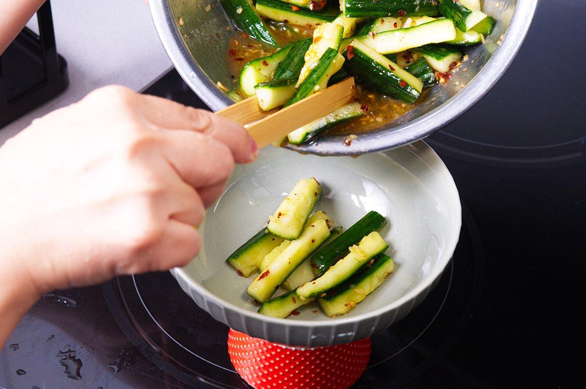 szechuan cucumbers beauty
