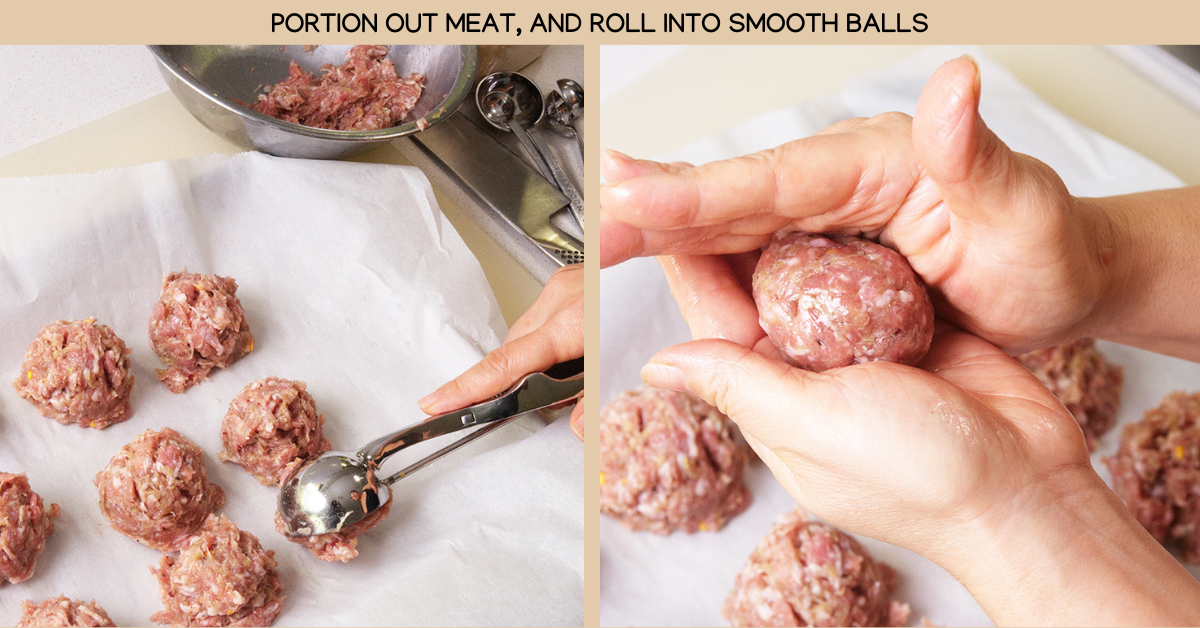 portion vietnamese meatballs