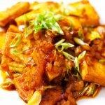 sriracha tofu recipe card