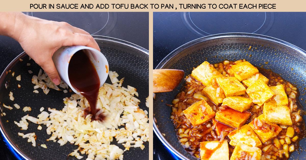 finish sriracha tofu