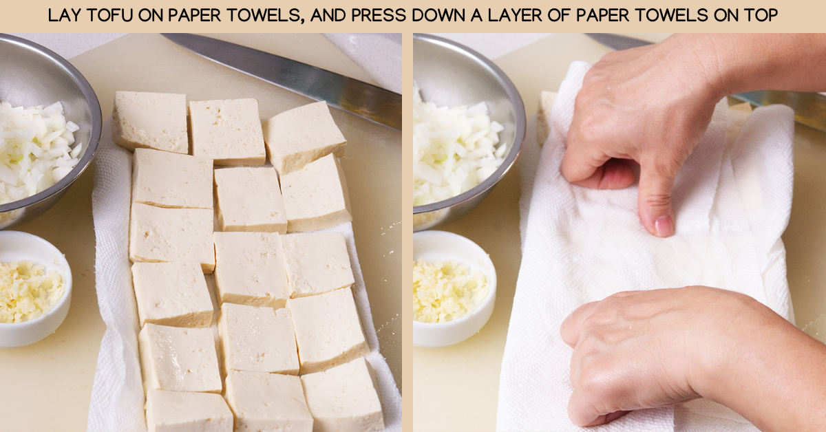 press sriracha tofu