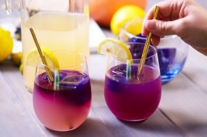 feature butterfly pea cocktail