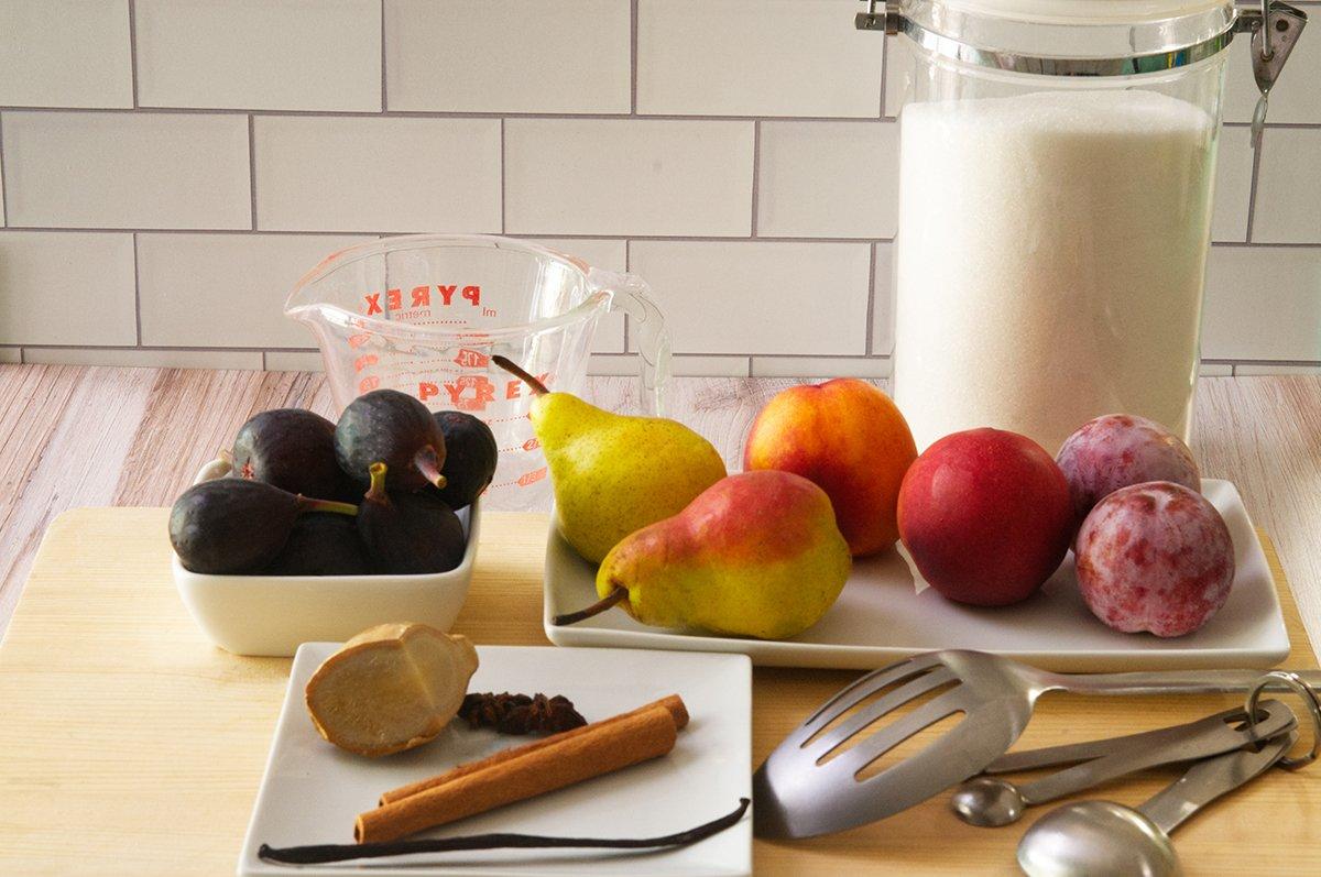 poached fruit ingredients