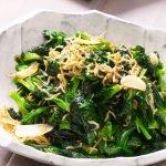 stir fried pea shoots recipe card