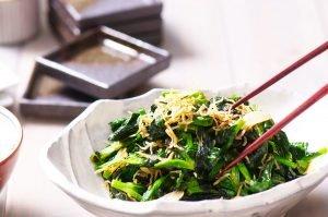 stir fried pea shoots feature