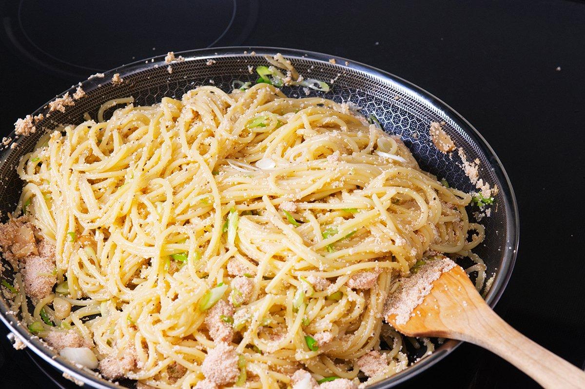 finish spaghetti tarako