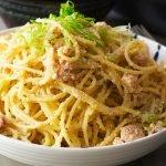 recipe card tarako spaghetti