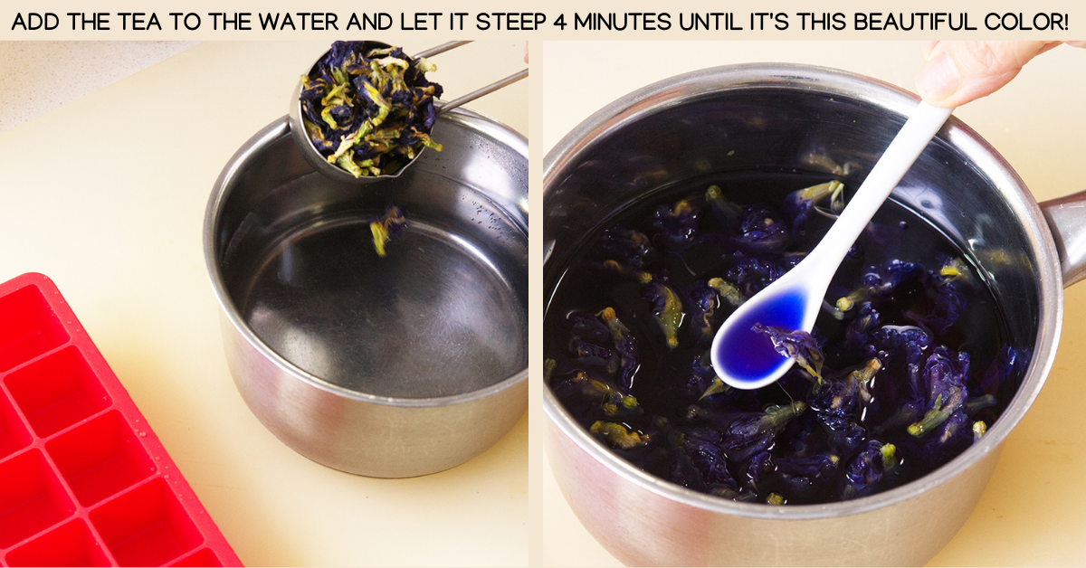 steep butterfly pea cocktails