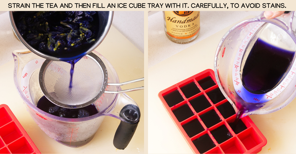 strain butterfly pea cocktails