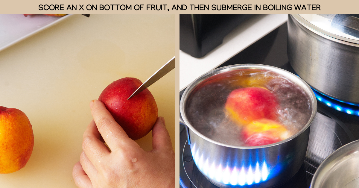 boiling poached fruit