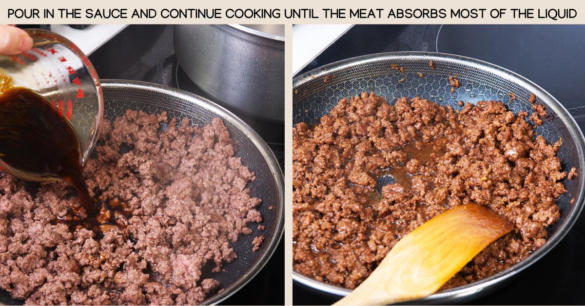 sauce soboro beef