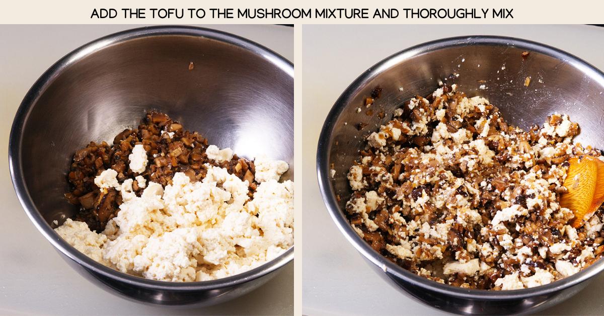 mix mushroom dumplings