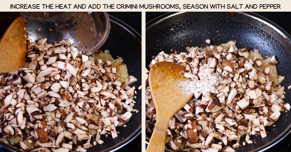 criminis mushroom dumplings
