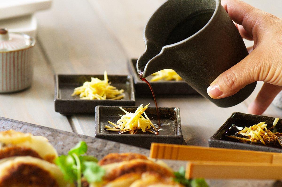 sauce mushroom dumplings