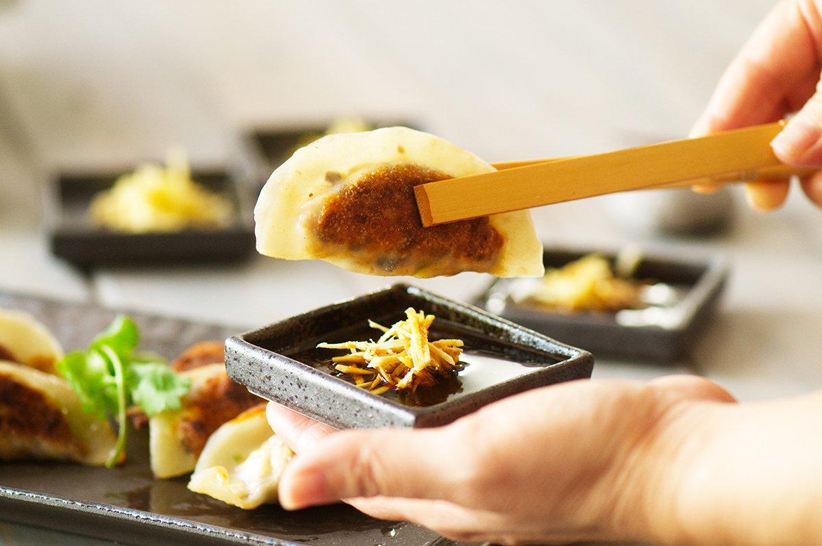 beauty mushroom dumplings