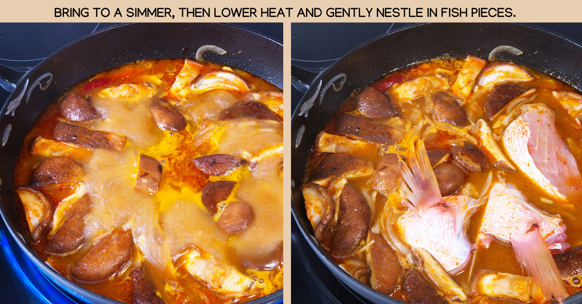 simmer spicy thai fish